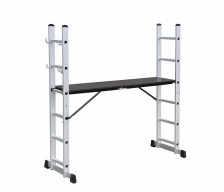 Escalera Aluminio c/Andamio EMK8