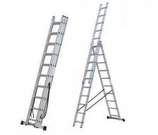 Escalera Aluminio 9 Escalones 3 Tramos EEK9